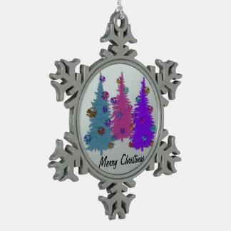 Christmas Pine Cones Snowflake Ornament