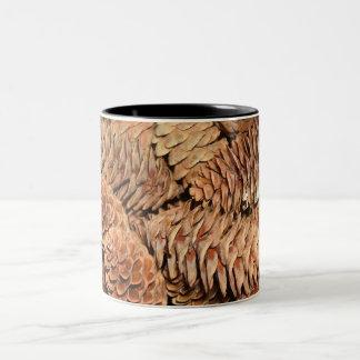 Christmas Pine Cones Two-Tone Coffee Mug
