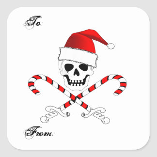 Christmas Pirate Gift Sticker