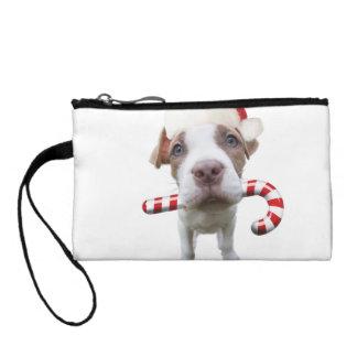 Christmas pitbull - santa pitbull -santa claus dog coin purse