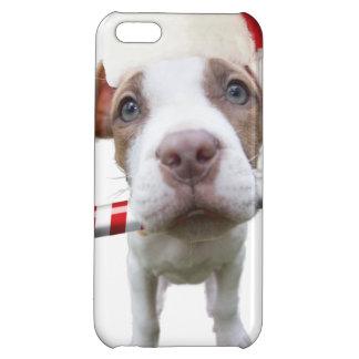 Christmas pitbull - santa pitbull -santa claus dog cover for iPhone 5C