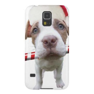 Christmas pitbull - santa pitbull -santa claus dog galaxy s5 case