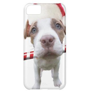 Christmas pitbull - santa pitbull -santa claus dog iPhone 5C case