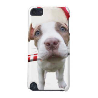 Christmas pitbull - santa pitbull -santa claus dog iPod touch (5th generation) covers