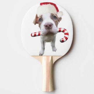 Christmas pitbull - santa pitbull -santa claus dog ping pong paddle
