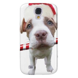 Christmas pitbull - santa pitbull -santa claus dog samsung galaxy s4 cover
