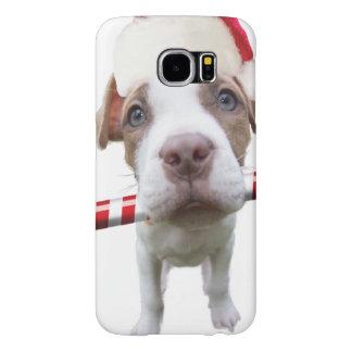 Christmas pitbull - santa pitbull -santa claus dog samsung galaxy s6 cases
