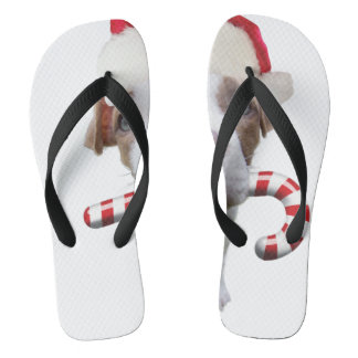 Christmas pitbull - santa pitbull -santa claus dog thongs