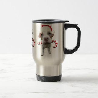 Christmas pitbull - santa pitbull -santa claus dog travel mug