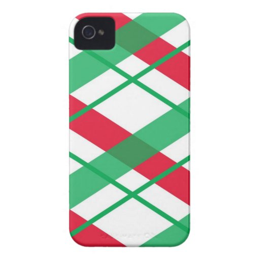 Christmas Plaid BlackBerry Bold Case Mate Cover iPhone 4 Cover