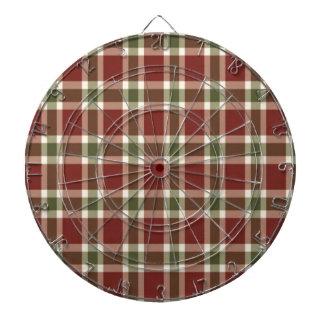 christmas-plaid- dartboard