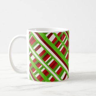 Christmas Plaid Diagonal Coffee Mug