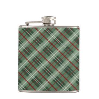 Christmas Plaid Hip Flask
