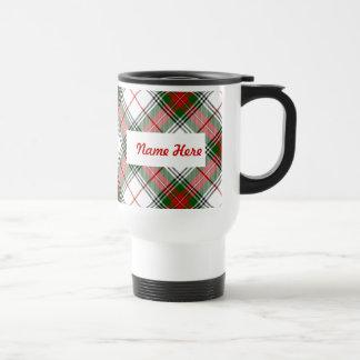 Christmas Plaid ~ Personalized Stainless Steel Travel Mug