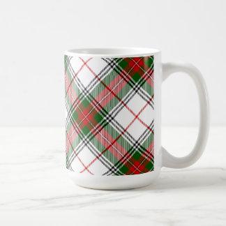 Christmas Plaid ~ Personalized Basic White Mug