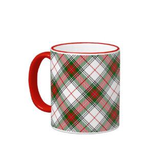 Christmas Plaid ~ Personalized Ringer Mug