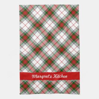 Christmas Plaid ~ Personalized Tea Towel