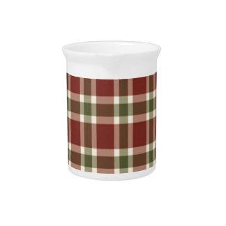 christmas-plaid- pitcher