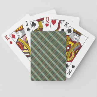 Christmas Plaid Playing Cards