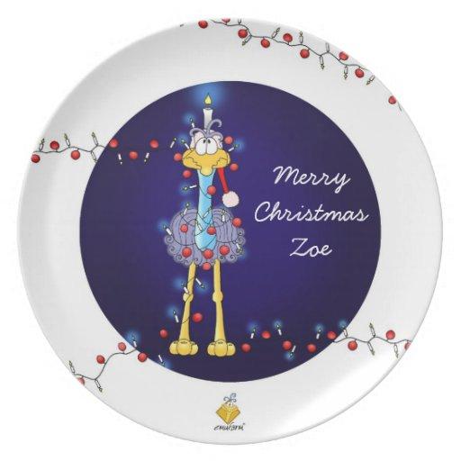 """christmas plate for kids with name """"Emu """""""