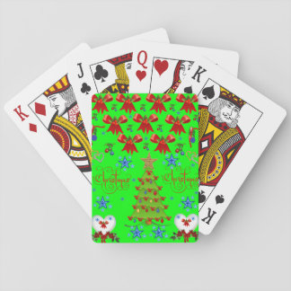 Christmas playing card deck green light