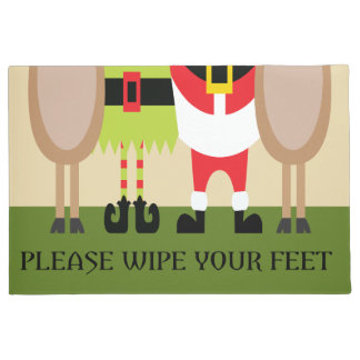 Christmas Please Wipe Your Feet Door Mat