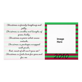 Christmas Poem Red and Green Photocard Card