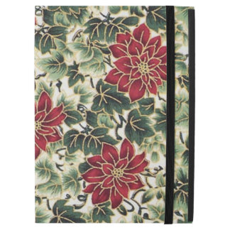 Christmas poinsetta pattern iPad Pro case