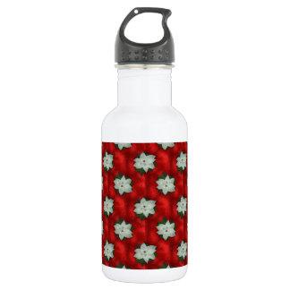 Christmas Poinsettia 532 Ml Water Bottle