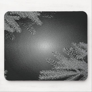 Christmas Poinsettia Black And Grey I Mouse Pad