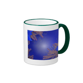 Christmas Poinsettia Black And Grey I Ringer Coffee Mug