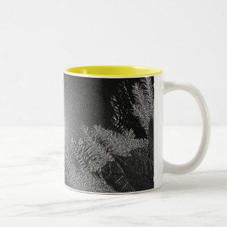 Christmas Poinsettia Black And Grey II Coffee Mug