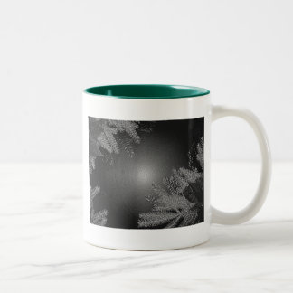 Christmas Poinsettia Black And Grey II Coffee Mugs