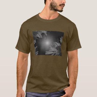Christmas Poinsettia Black And Grey II T-Shirt