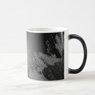 Christmas Poinsettia Black And Grey III 11 Oz Magic Heat Color-Changing Coffee Mug