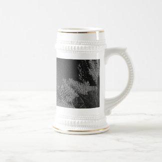 Christmas Poinsettia Black And Grey IV Mug