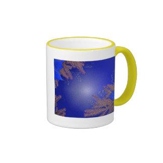 Christmas Poinsettia Blue I Coffee Mugs