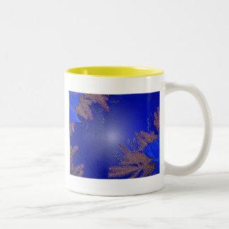 Christmas Poinsettia Blue II Mug