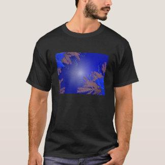 Christmas Poinsettia Blue II T-Shirt