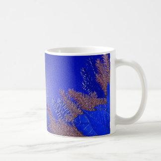 Christmas Poinsettia Blue Mugs