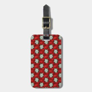 Christmas Poinsettia Luggage Tag