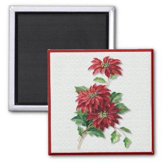 Christmas Poinsettia Magnet