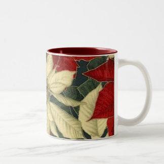 christmas_poinsettia coffee mug