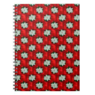 Christmas Poinsettia Notebooks