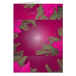 Christmas Poinsettia Pink Greeting Card