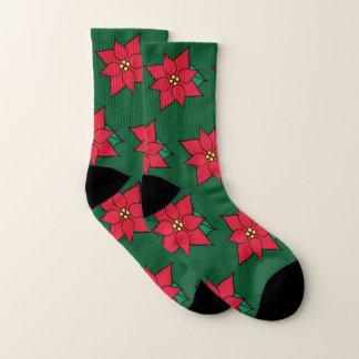 Christmas Poinsettia Socks 1