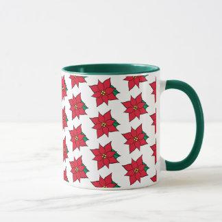 Christmas Poinsettias Holiday Coffee Mug Gift