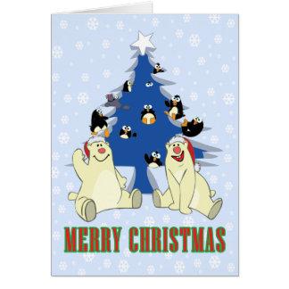 Christmas Polar Bears Greeting Card