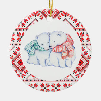 christmas polar bears winter animals decoration