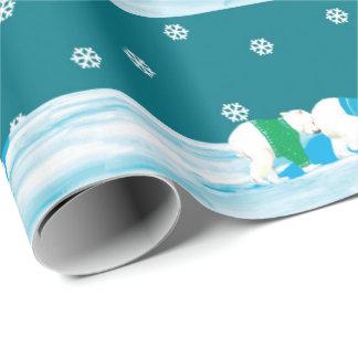 Christmas Polar Bears Wrapping Paper